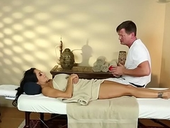Busty massage milf gets facefucked