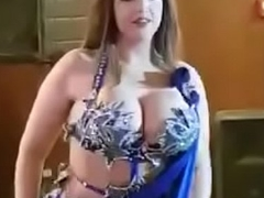 Dubai Based Lady Making Hot Belly Dance.MOV