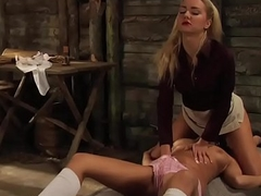 Mistress And Handmaiden: Mutual Orgasm Is All Pleasure She Will Get