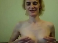 russian slim of age with small saggy tits