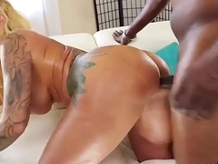 Pornstar stunner gets her anal rode with massive love try out
