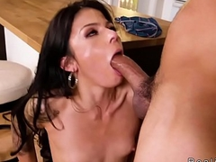 Latina sucking popsicle and big cock