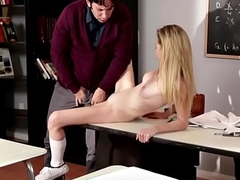 Teen schoolgirl cockriding her horny teacher