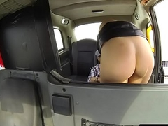 Bigtits taxi beauty fucked form behind