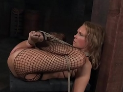 Busty sub slave feet punished before pissing