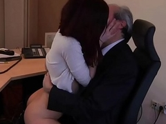 I am a young secretary dishonouring my boss at the office asking for coition