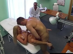 Pussyfucked euro creampied in drs office