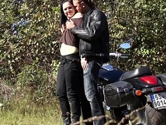 Raw biker drill innocent young babe in reintroduce