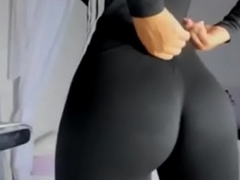 perfect ass in black yoga pants