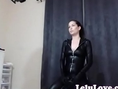 lelu a torch for webcam bts riding sybian in catsuit