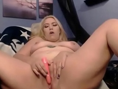 Slutty busty blonde with amazing huge ass
