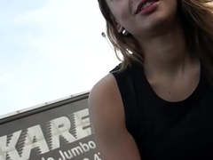 Lucky catch: gorgeous street slut fucked for little money
