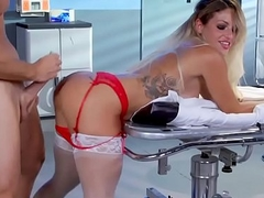 Nervous doctor fucks delicious MILF nurse Kissa Sins