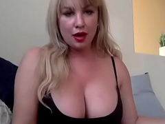 Busty blonde strip chat