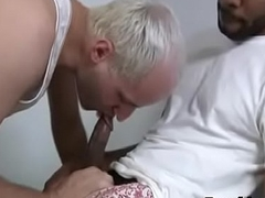 White Sexy Gay Teen Boy Enjoy Broad in the beam Black Dick Hard Way 07