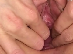 Pretty pink tight pussy gaping