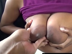 Adult movie star Big Tits Out In Restaurant Big Cock Blowjob