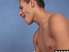 Skinny latino dudes have gonzo anal fuck session