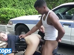 Kinky cop drilled with black dick