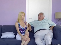 Huge tits stepmom helps guy with stumble
