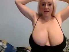 34k hot blonde ripsnorting cleavage huge udders