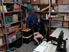 Skinny Shoplifter Gets Drilled