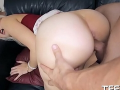 Sexy asian chick endures banging